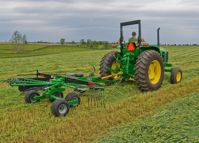 RR21 Series Rotary Rake at work in a hay field