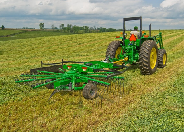 RR22 Series Rotary Rake at work in a hay field