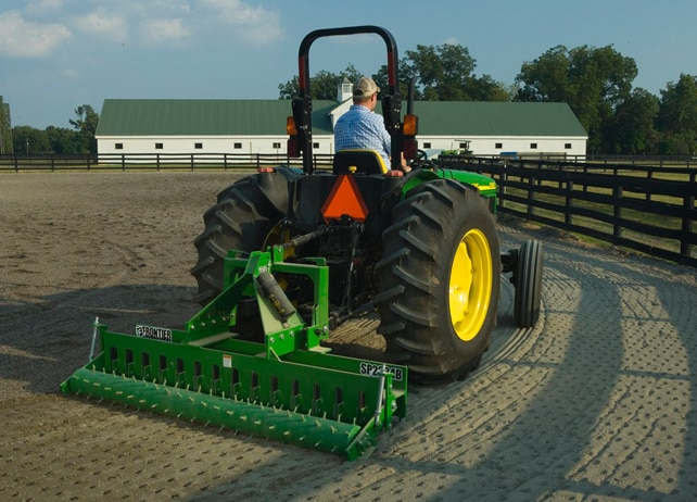 SP22 Series Soil Pulverizer loosens and levels packed arena dirt