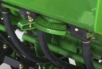 Closeup of the grass seed attachment
