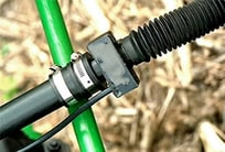 Closeup of a seed tube sensor