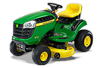 Follow link to the D110 Lawn Tractor (2015) product page.