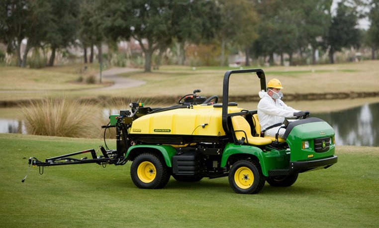 Operator uses Gator Pro to spray golf course