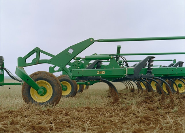 2410 Chisel Plow in a field