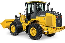 Studio view of a 444K Wheel Loader