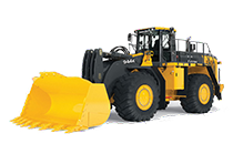 Studio view of a 944K Hybrid Wheel Loader