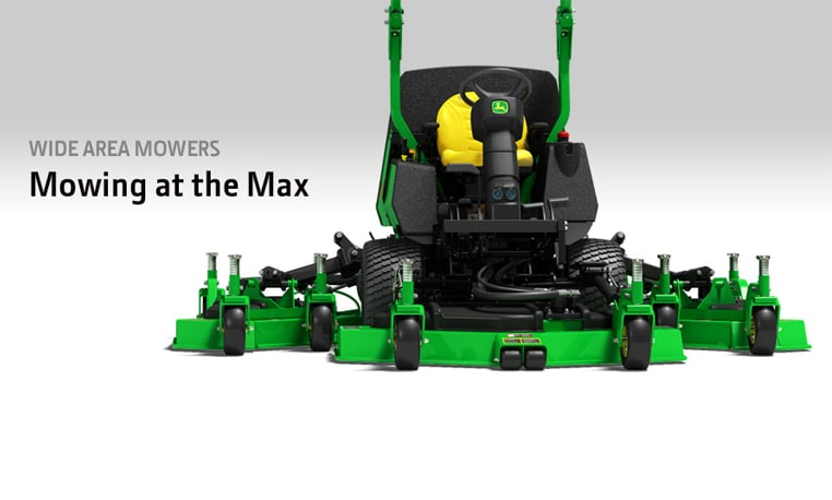Studio image of a John Deere Wide-Area Mower