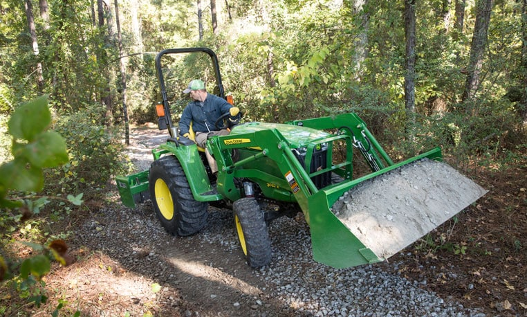 Front end loaders compact utility tractor loaders john deere us for Small garden tractors with front end loaders
