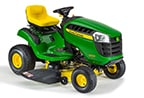 Follow link to the D105 Ride-On Mower product page.