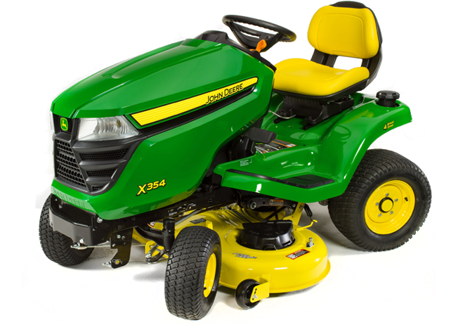 4 Wheel Steer Tractors : X select series lawn tractor in deck john