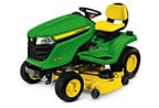 Follow link to the X380 Tractor, Less Mower Deck, California Model product page.