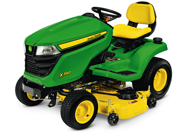 X300 select series lawn tractor x380 48 in deck john for Lawn garden equipment