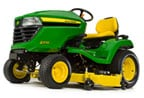 Follow link to the X570 Multi-Terrain Tractor, less deck, California Model product page.