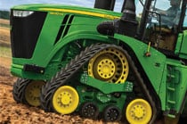Close up image of a 9rx Tractor.