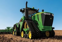 9RX Series tractor in field