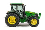 Studio image of 5M tractor with low sloping hood