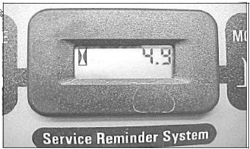 image showing the hour glass on the service reminder system