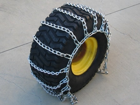 image of chains on tires