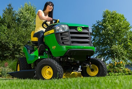 The John Deere X105 Tractor, with automatic transmission
