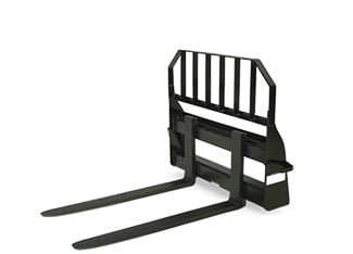 Studio image of rail-style pallet fork attachment